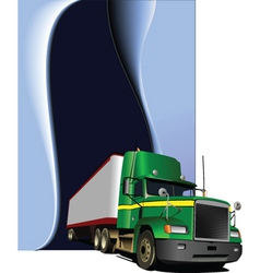 truck background vector image vector image