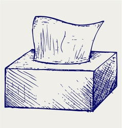 White tissue box vector