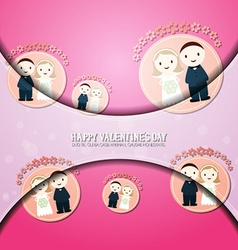 With love and groom and bride vector