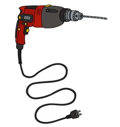 Red impact drill vector