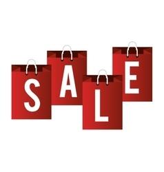 lettering sale bag shop icons vector image