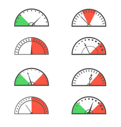 Speedometer icon set vector