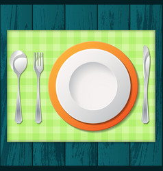 cutlery with tissue vector image