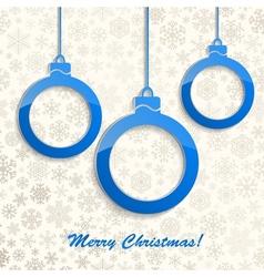 Christmas background with Christmas balls vector image