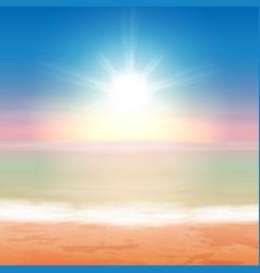 Beautiful sea sunset vector