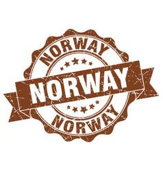 Norway round ribbon seal vector