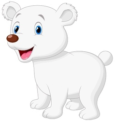 Cute polar bear cartoon vector