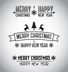 Decorative merry christmas signs vector