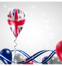 Uk flag on balloon vector