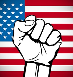 Power of liberty concept with usa flag background vector