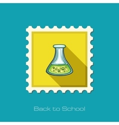 Flask tube flat stamp vector