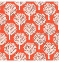 Pattern with trees vector
