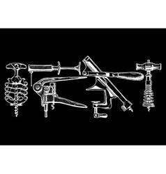 Set of corkscrews vector