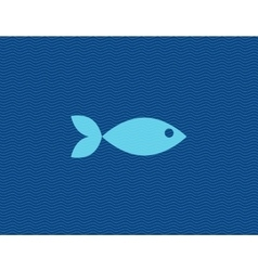 Flat of fish against line vector
