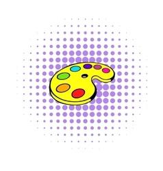 Art palette icon comics style vector image