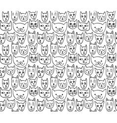 cat pattern vector image