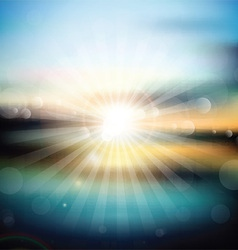 Abstract sunrise background vector image vector image