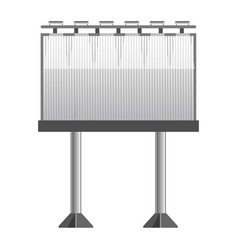 big monochrome street banner for advertisement vector image vector image