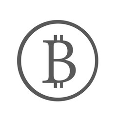 bitcoin sign icon simple vector image