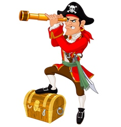 Cartoon pirate vector image vector image