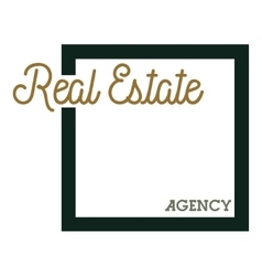 Color vintage real estate agency emblem vector