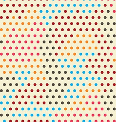 colored points seamless pattern vector image