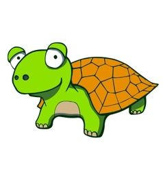 Cute cartoon turtle vector