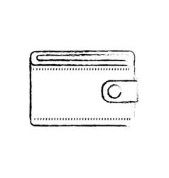 Figure wallet to save money vector
