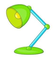 Green table lamp icon cartoon style vector
