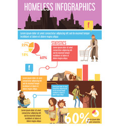 homeless people infographics vector image vector image