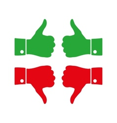 Icons thumbs up and down vector