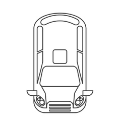 Isolated car vehicle silhouette design vector