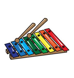 isolated xylophone toy vector image
