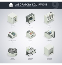 Laboratory Equipment Icons vector image