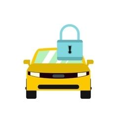Locking car doors icon flat style vector