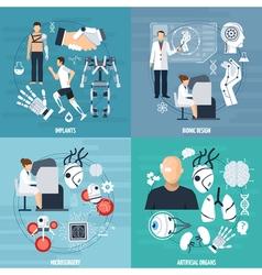 Modern bionics template vector