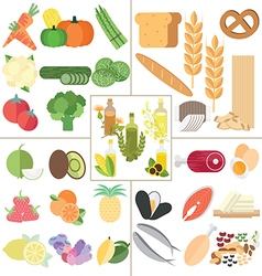 Nutrition healthy food vector image