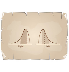 positive and negative distribution curve on old pa vector image vector image