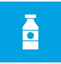 Sauce bottle icon white vector