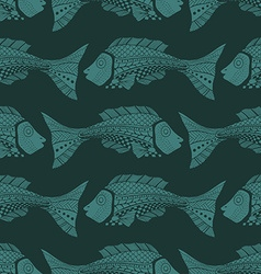 Seamless of fish background vector