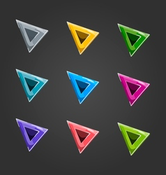 Set cursors different colors vector image vector image