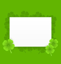 st patrick greeting card vector image vector image