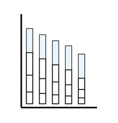 Statistics bars graphic vector