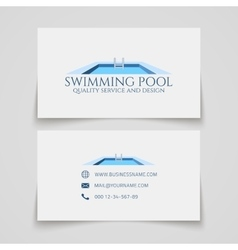 Swimming pool business card vector