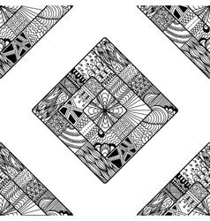 Zentangle seamless pattern doodle mandala vector image vector image