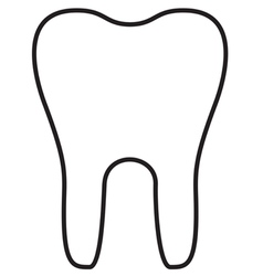 Teeth icon outline vector