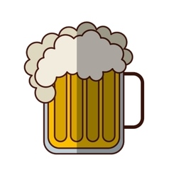 Beer glass beverage isolated icon vector