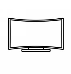 Curved flat screen smart tv vector