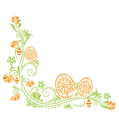 Easter spring eggs vector