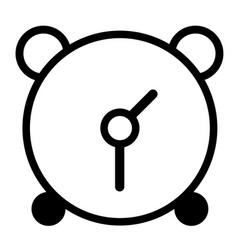 black alarm clock icon on white background vector image